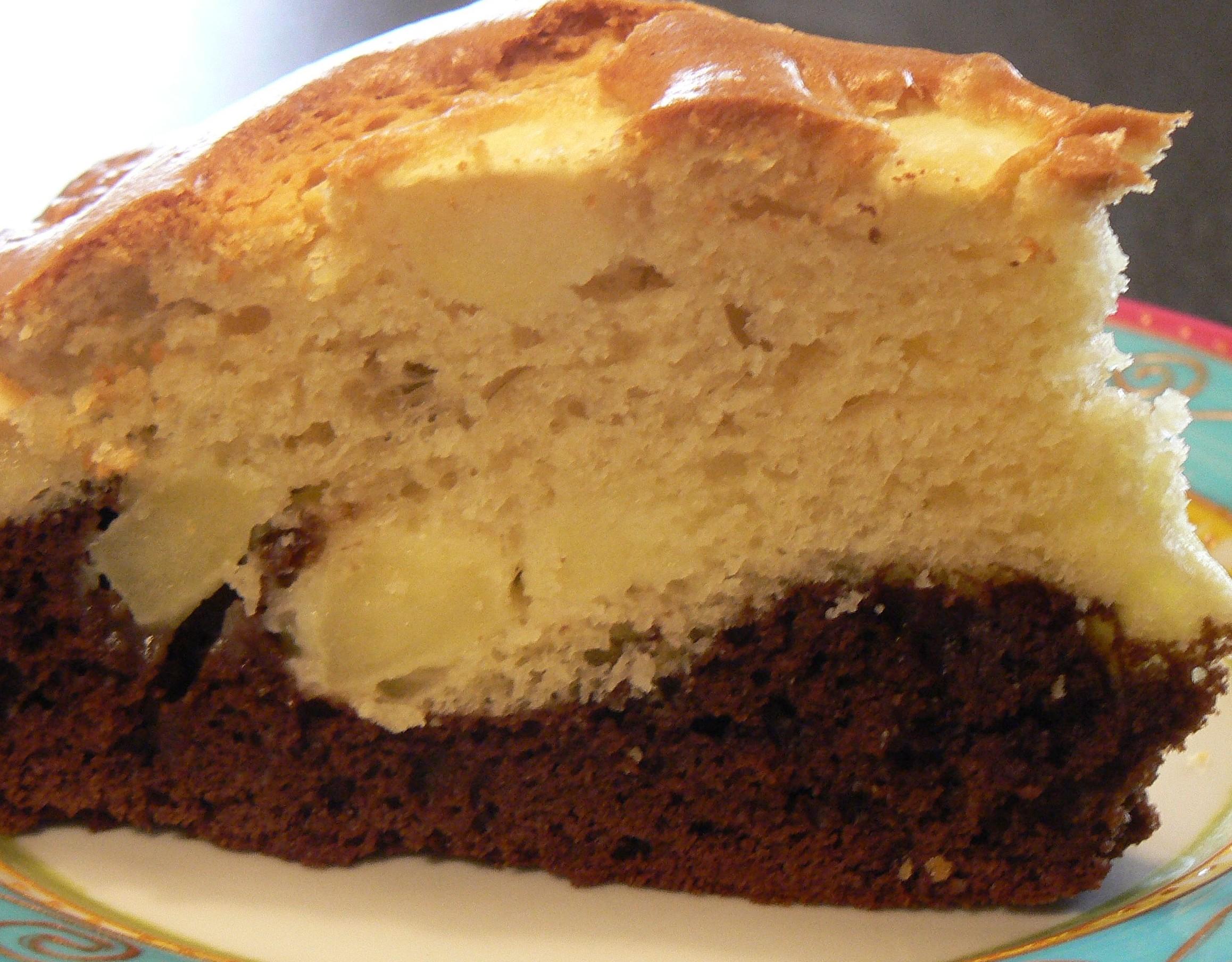 Marbre Pomme Chocolat Dans Un Moule A Cake